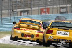 #19 Race Prep Motorsports Porsche 996: Mike Pickett, Spencer Pumpelly, Michael Levitas, #15 Frederick Motorsports Mustang Cobra: David Brown, Cory Rudl