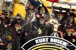 The sweet taste of champagne for Kurt Busch
