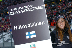 Grid girl of Heikki Kovalainen