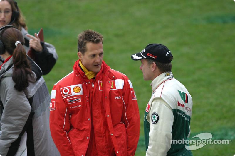 Michael Schumacher and Armin Schwarz