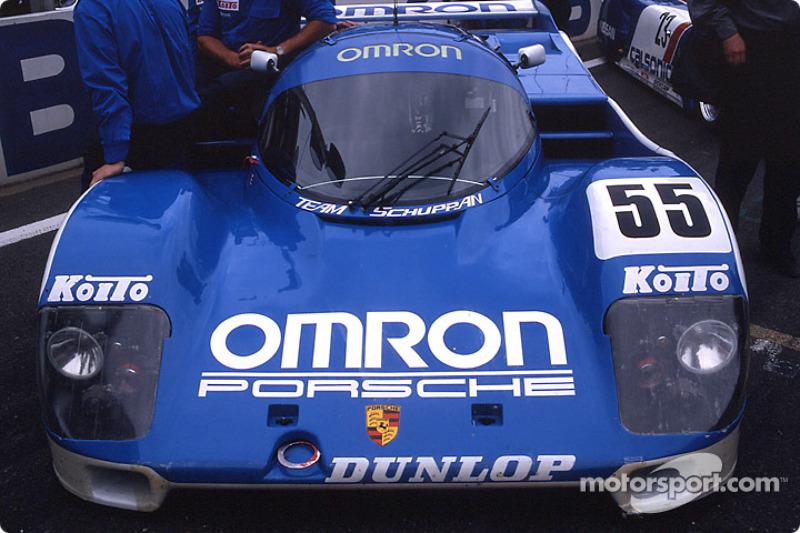 #55 Team Schuppan Porsche 962C on the starting grid
