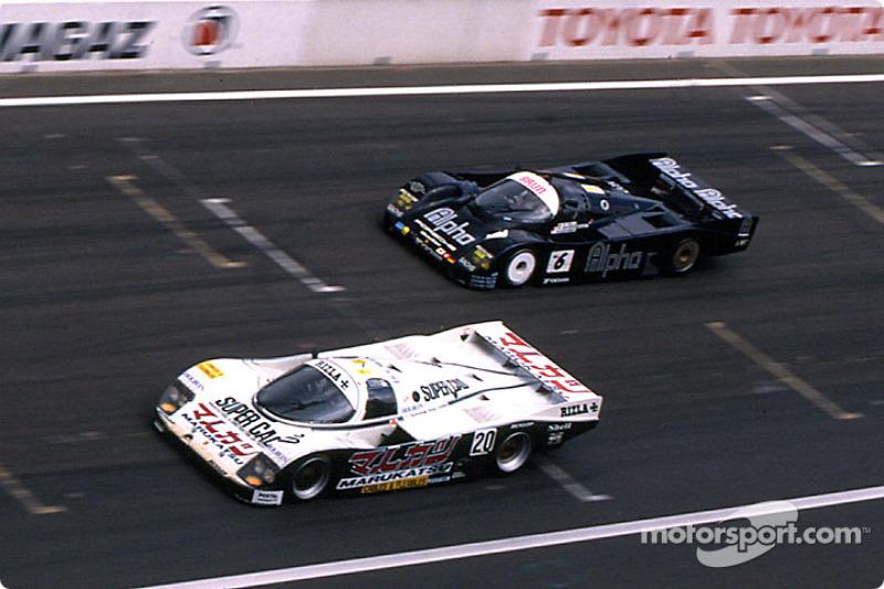 Team Davey Porsche 962C : Tim Lee-Davey, Tom Dodd-Noble, Katsunori Iketani; Brun Motorsport Porsche 962C : Walter Lechner, Roland Ratzenberger, Maurizio Sala