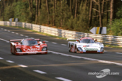 #14 Richard Lloyd Racing Porsche 962C: Derek Bell, James Weaver, Tiff Needell, #103 France Prototeam Spice SE88C Ford: Bernard Thuner, Pierre de Thoisy, Raymond Touroul