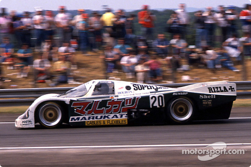 El #20 Porsche 962C del Team Davey: Tim Lee-Davey, Tom Dodd-Noble y Katsunori Iketani.