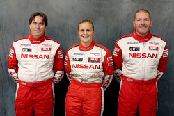 Nissan Rally Raid Team presentation: co-drivers Tiziano Siviero, Tina Thorner and Jean-Marie Lurquin