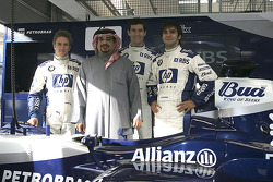 The Crown Prince of Bahrain with Nick Heidfeld, Mark Webber and Antonio Pizzonia