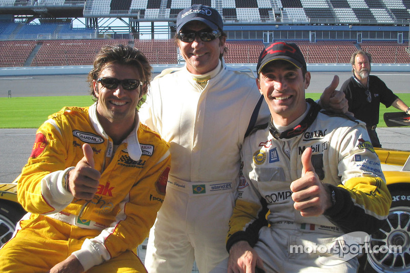 Christian Fittipaldi, Emerson Fittipaldi and Max Papis