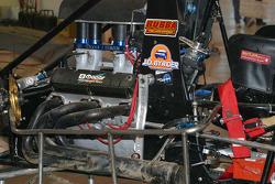 Detailed midget engine view