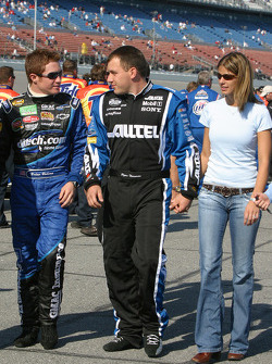 Brian Vickers and Ryan Newman with wife Krissie