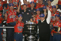 Victory lane: race winner Jeff Gordon celebrates with Rick Hendrick and his team