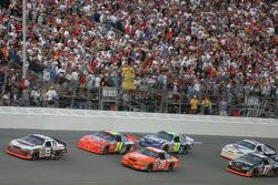 Dale Earnhardt Jr. leads Jeff Gordon and Tony Stewart
