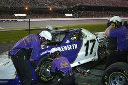Crown Royal crew work on the car of Matt Kenseth