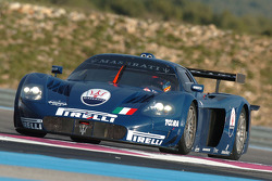 Fabio Babini tests the Maserati MC12 GT1