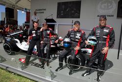 Minardi team launch: Paul Stoddart, Christijan Albers, Patrick Friesacher ve Chanock Nissany