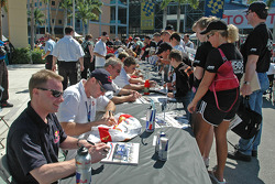 Ambience at autograph session