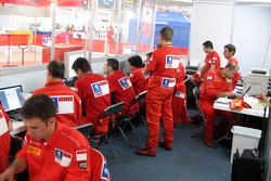Marlboro Peugeot Total engineers at work