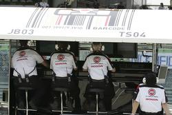 BAR-Honda pitwall