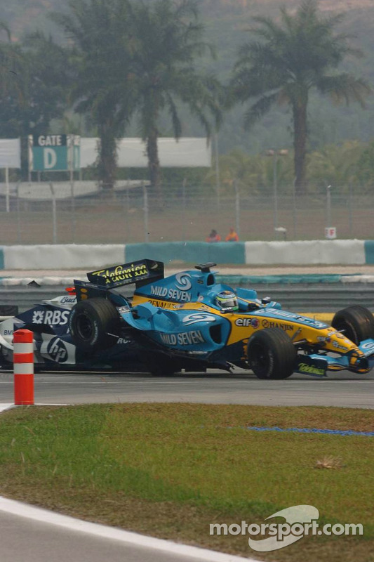 Accidente entre Mark Webber y Giancarlo Fisichella