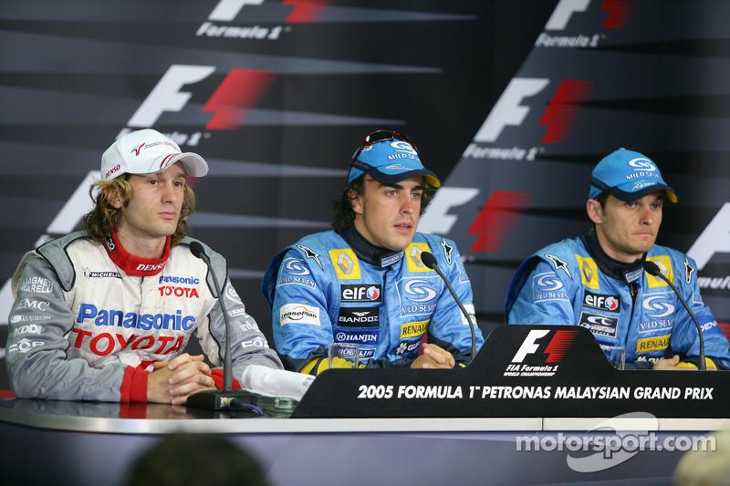 Conferencia de prensa FIA sábado: Fernando Alonso, Jarno Trulli y Giancarlo Fisichella