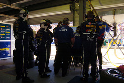 The Stone Bros Racing crew watch the monitors