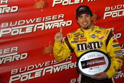 Pole winner Elliott Sadler celebrates