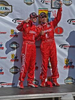 DP podium: overall and class winners Luis Diaz and Scott Pruett