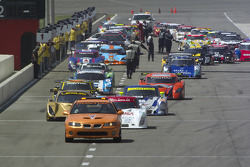 The cars roll off the grid