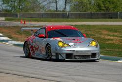La Porsche 911 GT3 RSR n°44 du Flying Lizard Motorsports (Lonnie Pechnik, Seth Neiman)