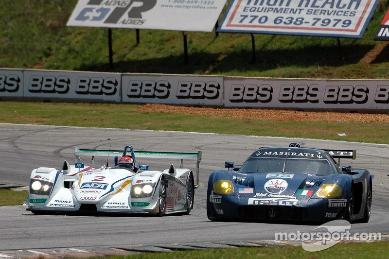 Champion Racing Audi R8 : Frank Biela, Emanuele Pirro; Maserati Corse Maserati MC12 : Andrea Bertol