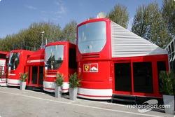 Ferrari hospitality area