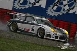 #74 Ebimotor Porsche 996 GT3 RSR: Luigi Moccia, Emanuele Busnelli