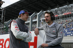 Mattias Ekström with engineer Alexander Stehlig