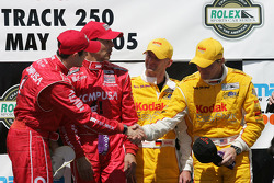 Luis Diaz and Scott Pruett, with Terry Borcheller and Ralf Kelleners