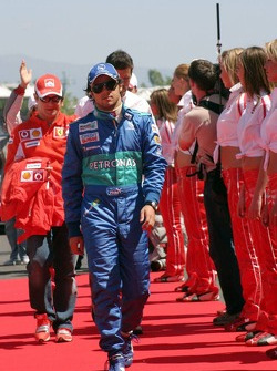 Drivers presentation: Felipe Massa and Rubens Barrichello