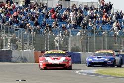 A crowd of 27,000 enjoy the FIA GT race