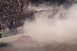 Jeff Gordon bumps the wall