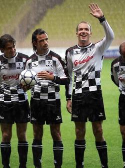 Charity Soccer at the Stade Louis 2, with Prince Albert II of Monaco: Vitantonio Liuzzi and Robert Doornbos