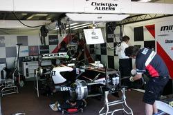 Minardi team members at work