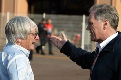 Bernie Ecclestone and Patrick Head