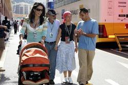 Connie and Juan Pablo Montoya with son Sebastian
