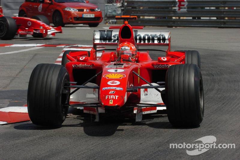 Michael Schumacher sin ala delantera