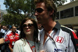 Jenson Button with athlete Emma Davies