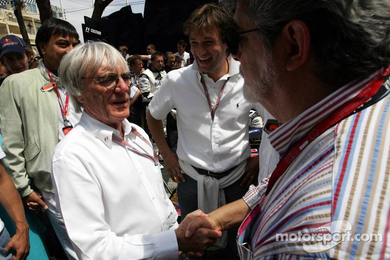 Bernie Ecclestone y George Lucas