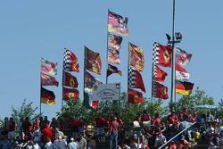 Flags of Michael Schumacher fan clubs