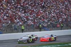 Kyle Busch, Jeff Gordon and Mike Skinner