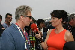 Michael Douglas on the starting grid
