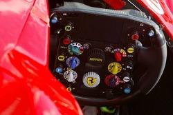 Cockpit of the Ferrari