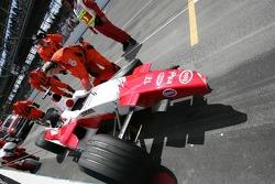 Wrecked car of Ralf Schumacher