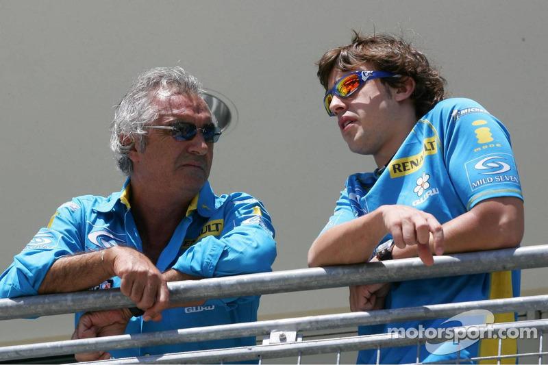 Flavio Briatore y Fernando Alonso