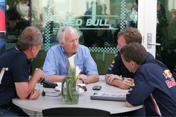 Charlie Whiting, Christian Horner and Dave Stubbs